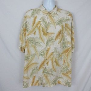 Tori Richard Hawaiian Shirt Beige Floral